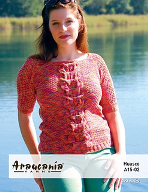 Araucania Pattern - Huasco Pattern A15-02 Knitted Cabled Raglan Sweater