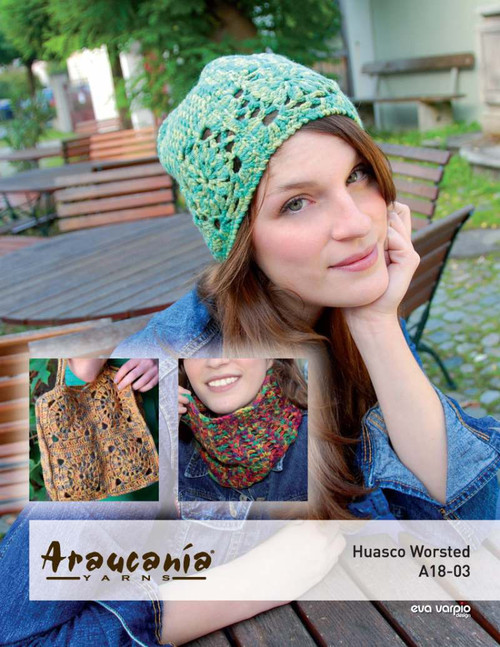 Araucania Pattern - Huasco Worsted Pattern A18-03 Granny Square Bag, Hat & Cowl