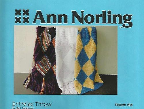 Ann Norling Pattern - #34 Entrelac Throw