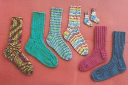 Ann Norling Pattern - #12A Adult Socks II Play on Ribs