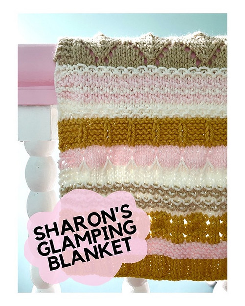 Berroco Sharon's Glamping Blanket by Casapinka