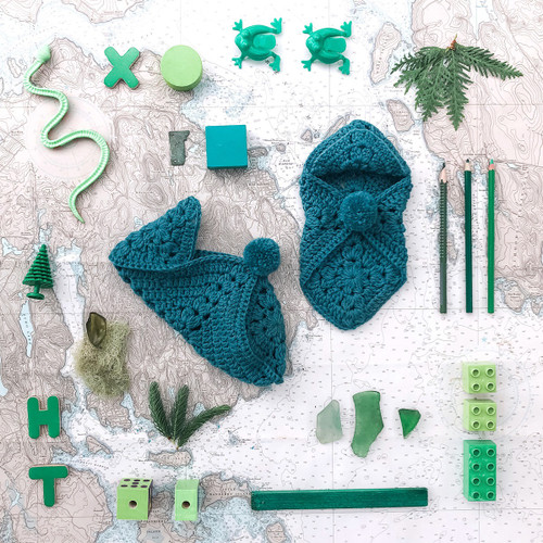 Kelbourne Woolens Year of Gifts - July 2020 Hosta Slippers