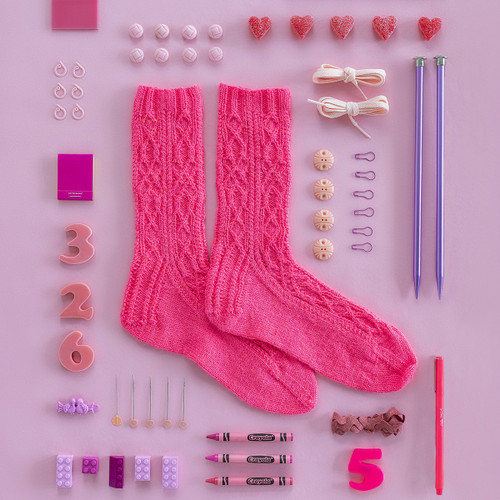Kelbourne Woolens Year of Gifts - April 2020  Sweet Pea Socks