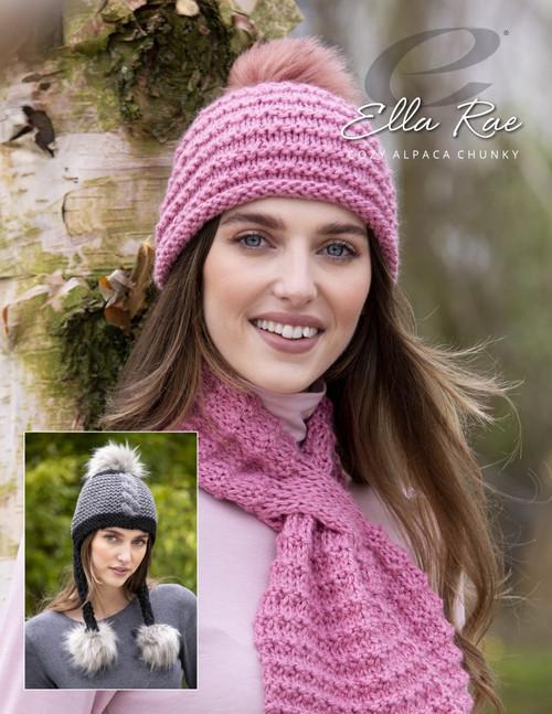 Ella Rae Pattern - Roma Hat, Scarf & Chullo - Cozy Alpaca Chunky ER1165-01