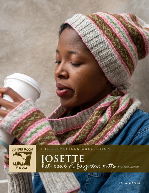 Juniper Moon Farm Leaflet - Josette Cowl, Hat & Fingerless Mitts J135-02