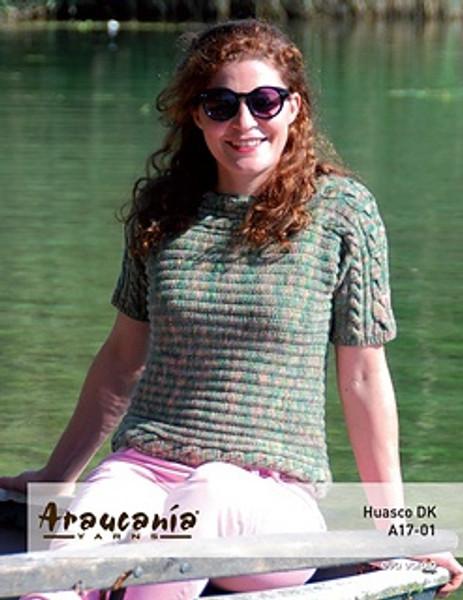 Araucania Pattern - Huasco DK Pattern A17-01 Side to Side Tee