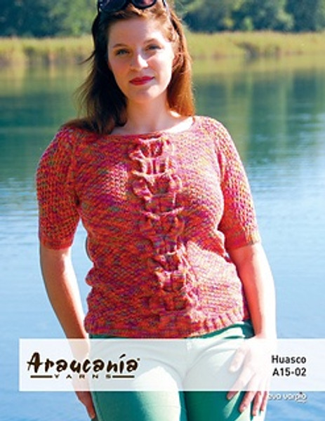 Araucania Pattern - Huasco Pattern A15-02 Knitted Cabled Raglan Sweater