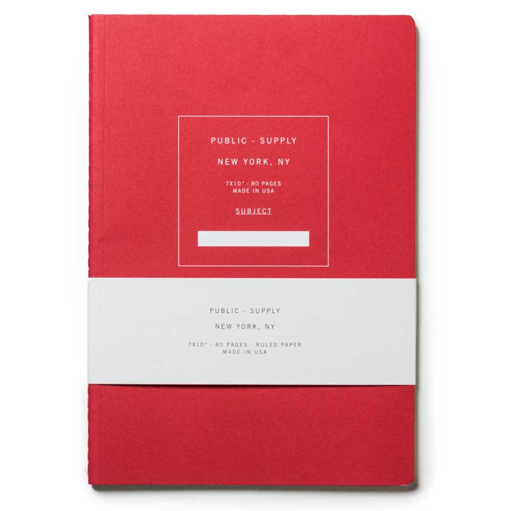 Large Public Supply Notebook