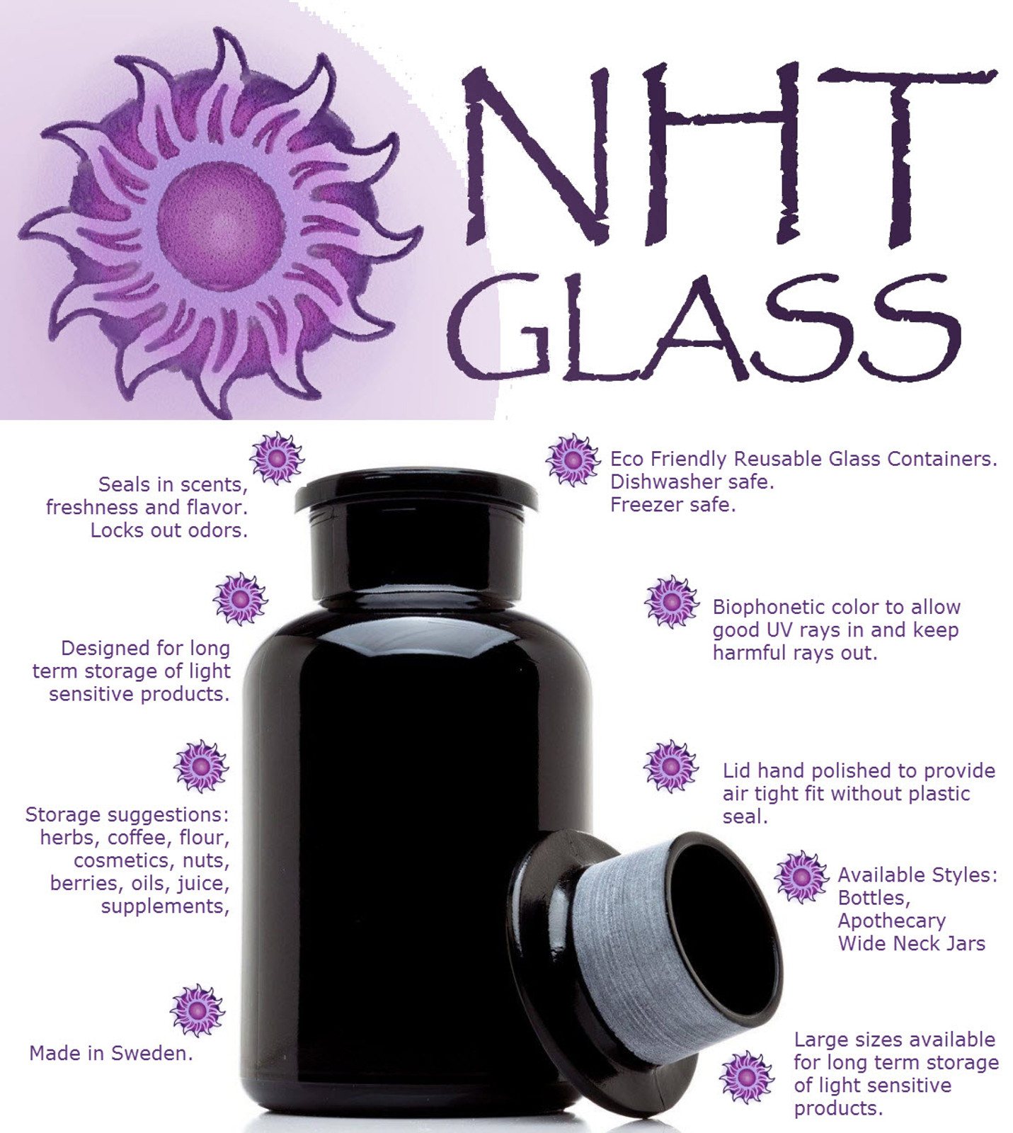 NHT Apothecary Bottle