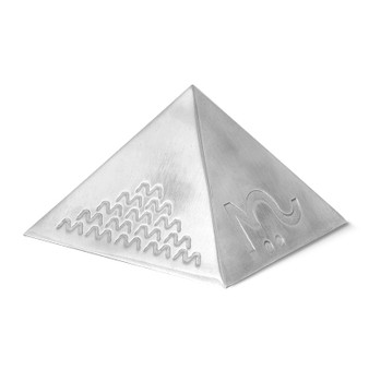 POWER P.E.BAL with advanced technology in stunning stainless steel pyramid shaped case. The most powerful EMF shielding device Life Energy produces.