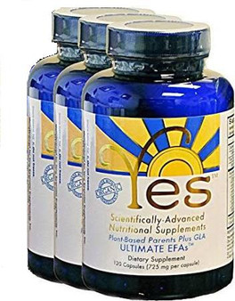 Save money when you buy 3 YES EFA Supplements. Organic. Vegan. Replace fish oil for natural EFA from Flax seed oil. Original Brian Peskin formula. 3 month supplement supply at a savings.