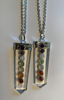 Crystal Chakra necklace, bookmark, zipper pull, purse charm, bracelet, or as a key chain.