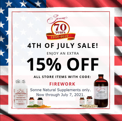 Celebrating Independence for Natural Health with Sonne
