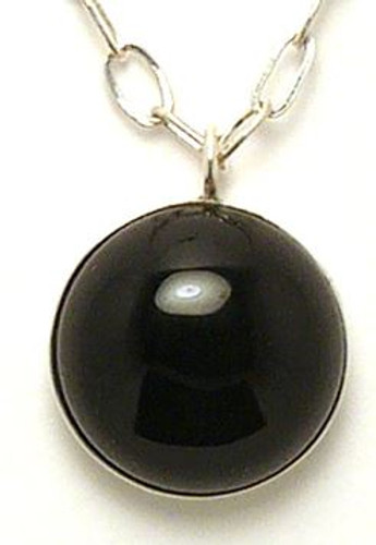 Black Onyx Scalar Pendant.