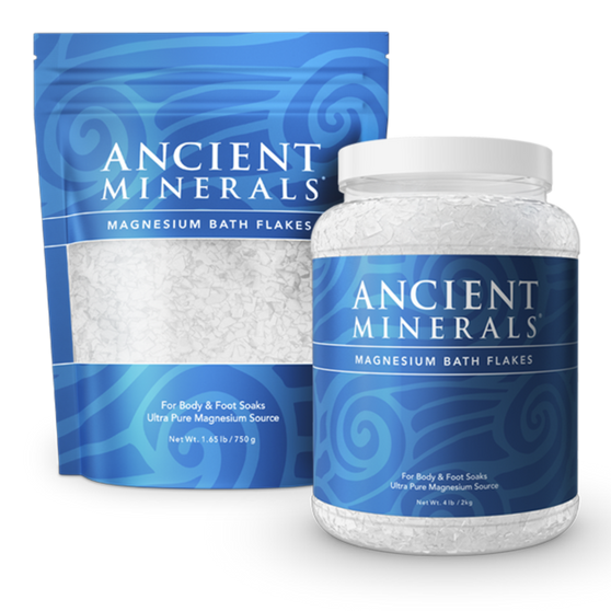 Dissolved in warm water, Ancient Minerals magnesium bath flakes contain only the purest ingredients of highly soluble magnesium chloride. The bath flakes offer a highly effective, yet calming, means of absorbing magnesium.