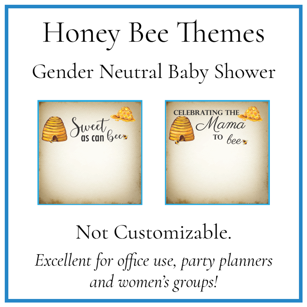 Honey Bee Shower Templates