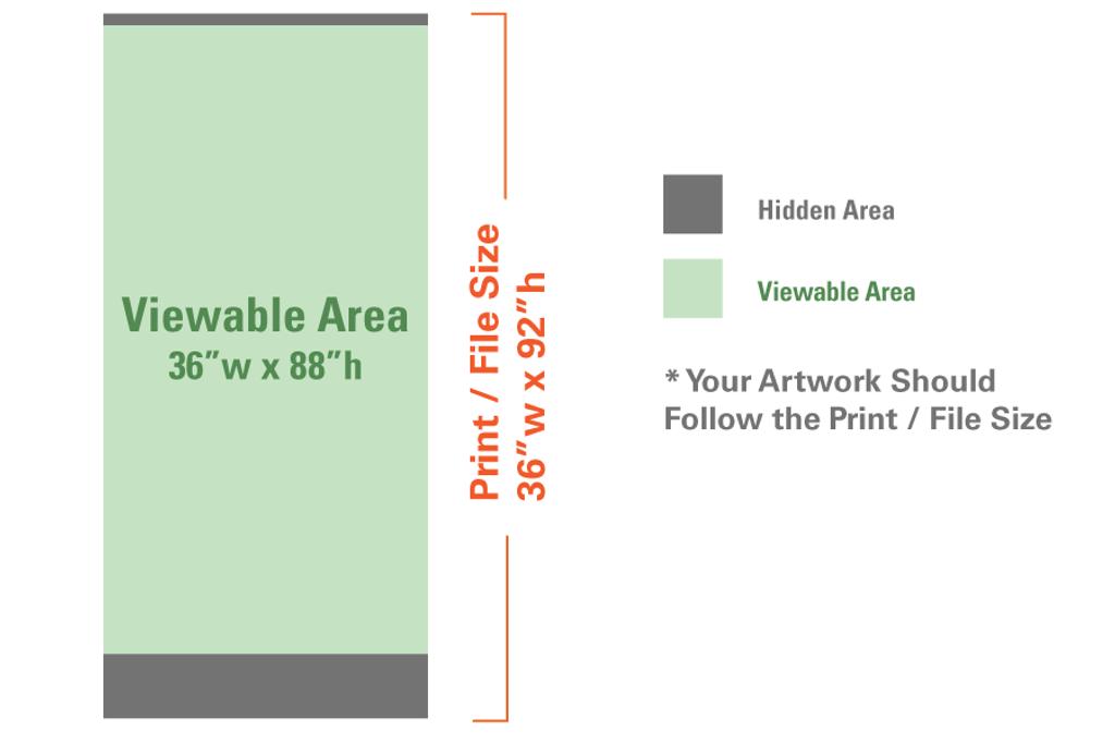 "Professional's Retractable 36""x92"" (Silver)"