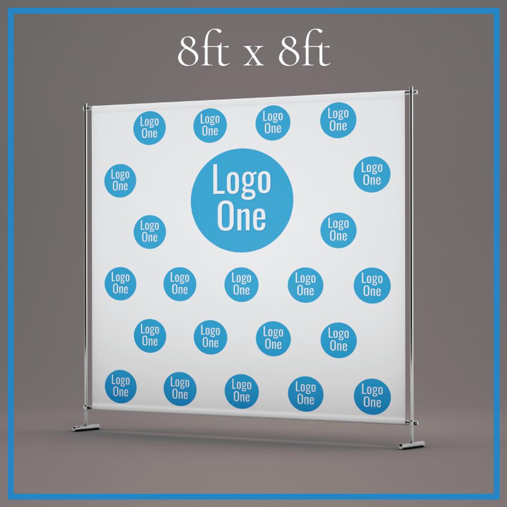 single logo non profit template for an 8x8