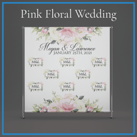 Pink & White Roses with Monogram