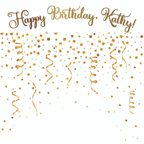 Birthday Template - Confetti