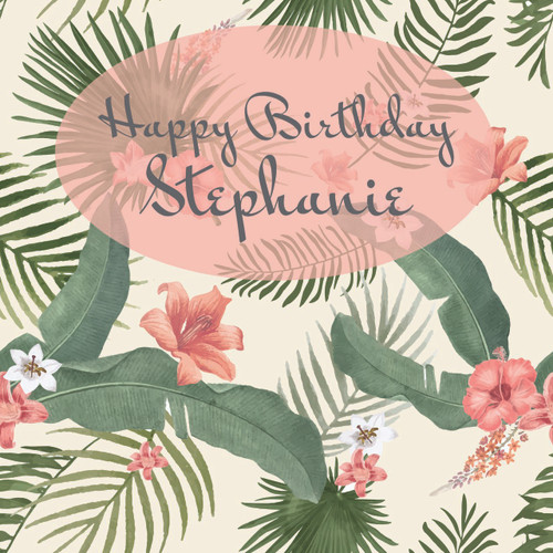 Tropical Birthday Banner Template