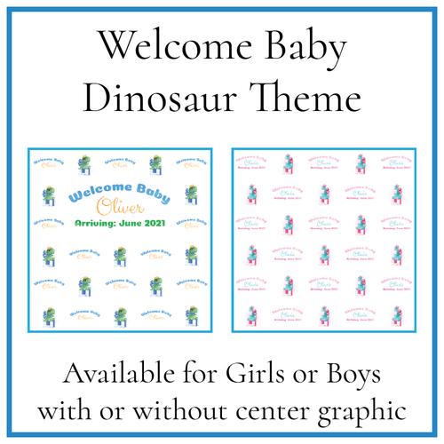 Welcome Baby - Dinosaur Theme