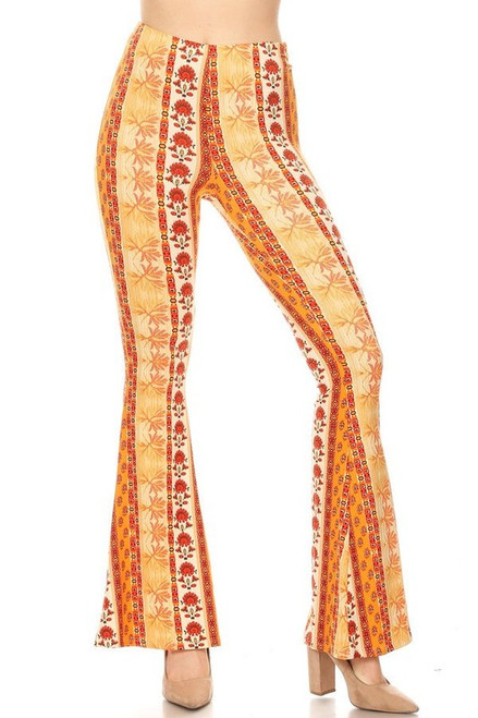 Orange and White Bell Bottoms