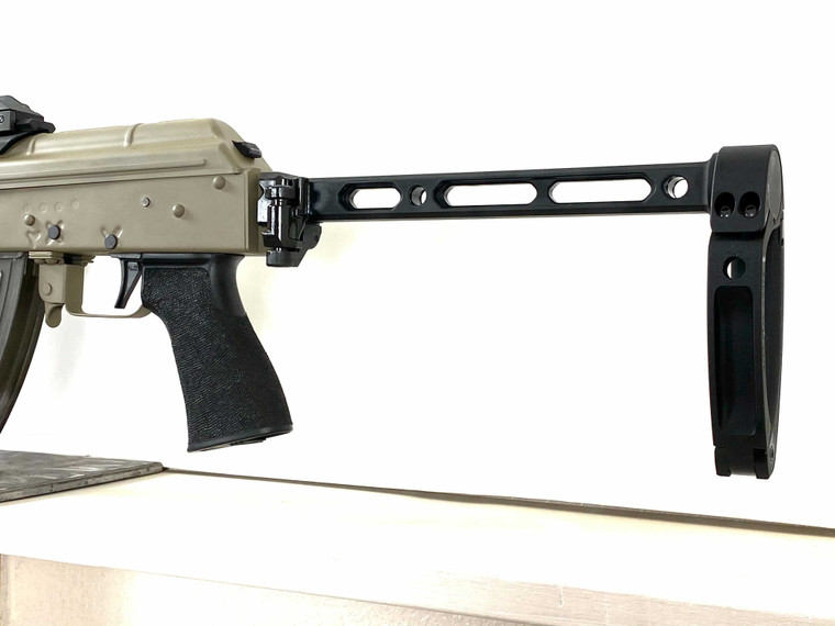 OCCAM DEFENSE RAZOR Brace Strut with SIG SAUER 1913 Hinge and TAILHOOK MOD 1 Brace mounted on an ODS-1775 firearm.