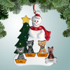 image of Snowman with Tree & Optional Pets ornament