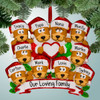 image of Brown Bear Family with Heart - 10 ornament