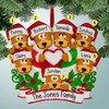 image of Brown Bear Family with Heart - 7 ornament