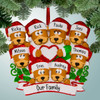 image of Brown Bear Family with Heart - 8 ornament