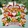 image of Brown Bear Family with Heart - 9 ornament