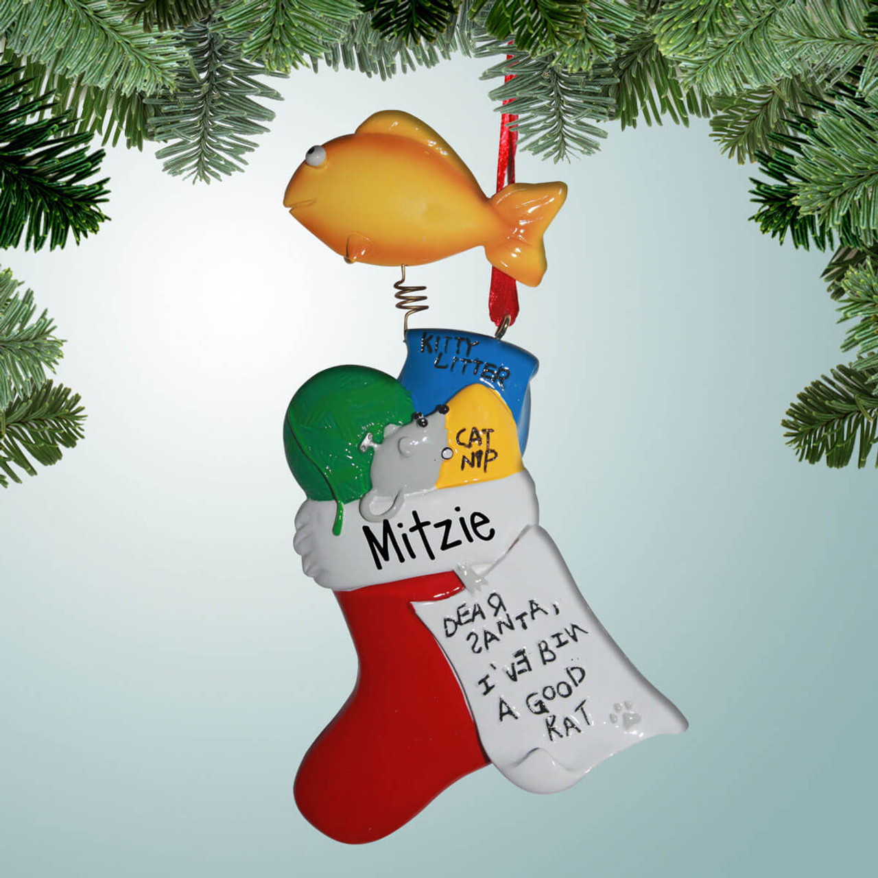 Cat Christmas Stockings.Cat Stocking With Bad Spelling