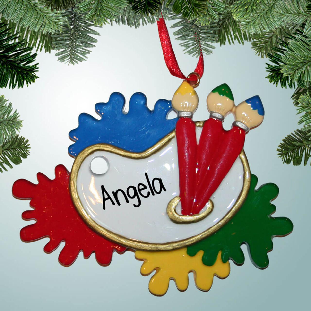 Artist Christmas Ornaments.Art Palette