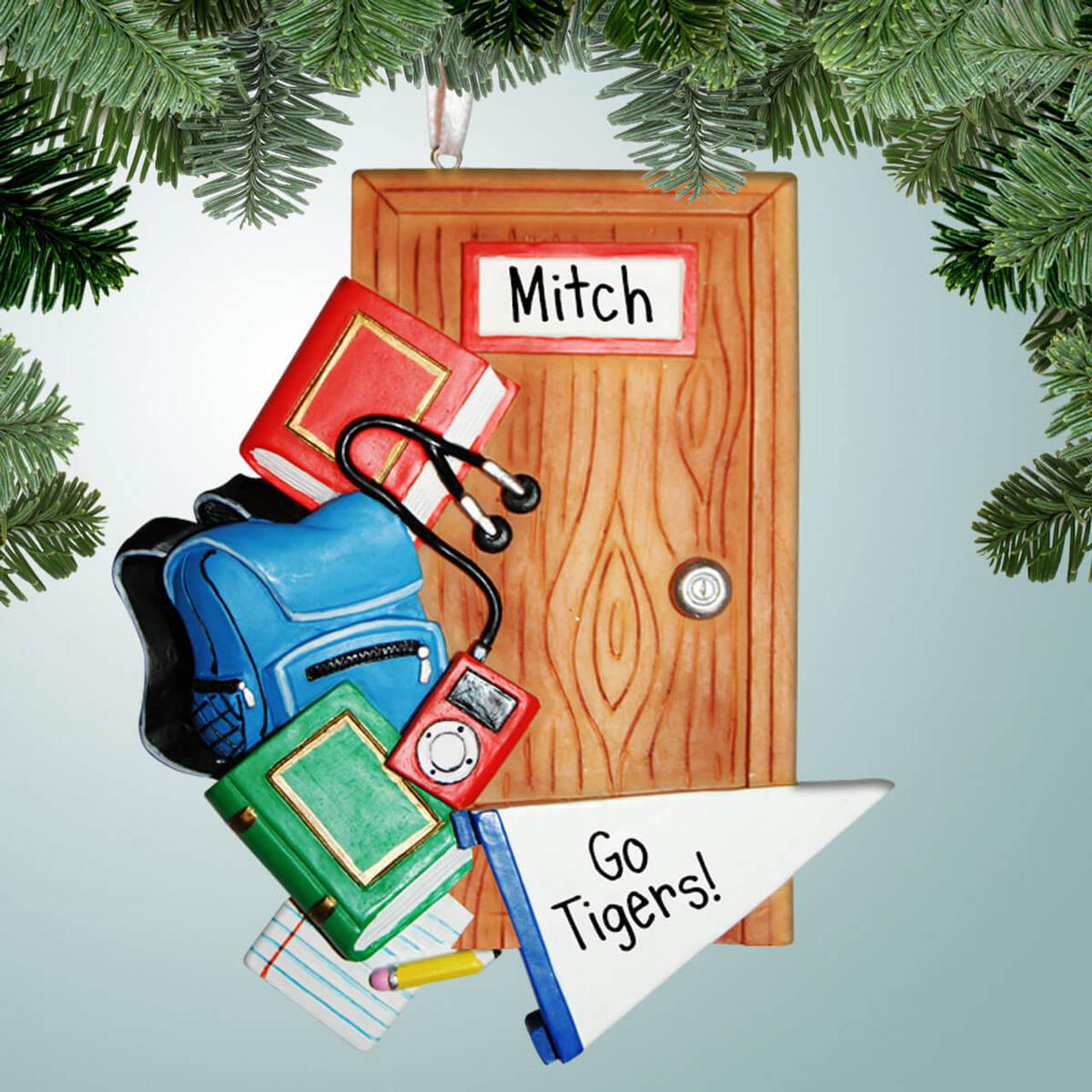 New Dorm Door Personalized Christmas Tree Ornament