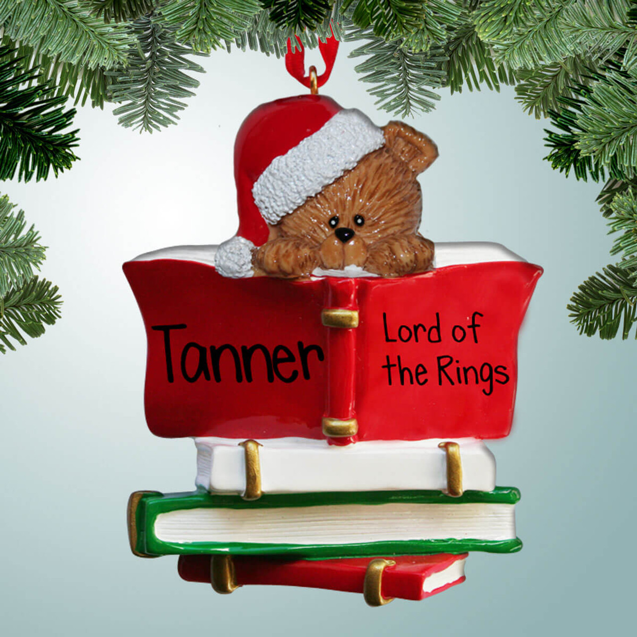 Lord Of The Rings Christmas Ornaments.Bear Bookworm