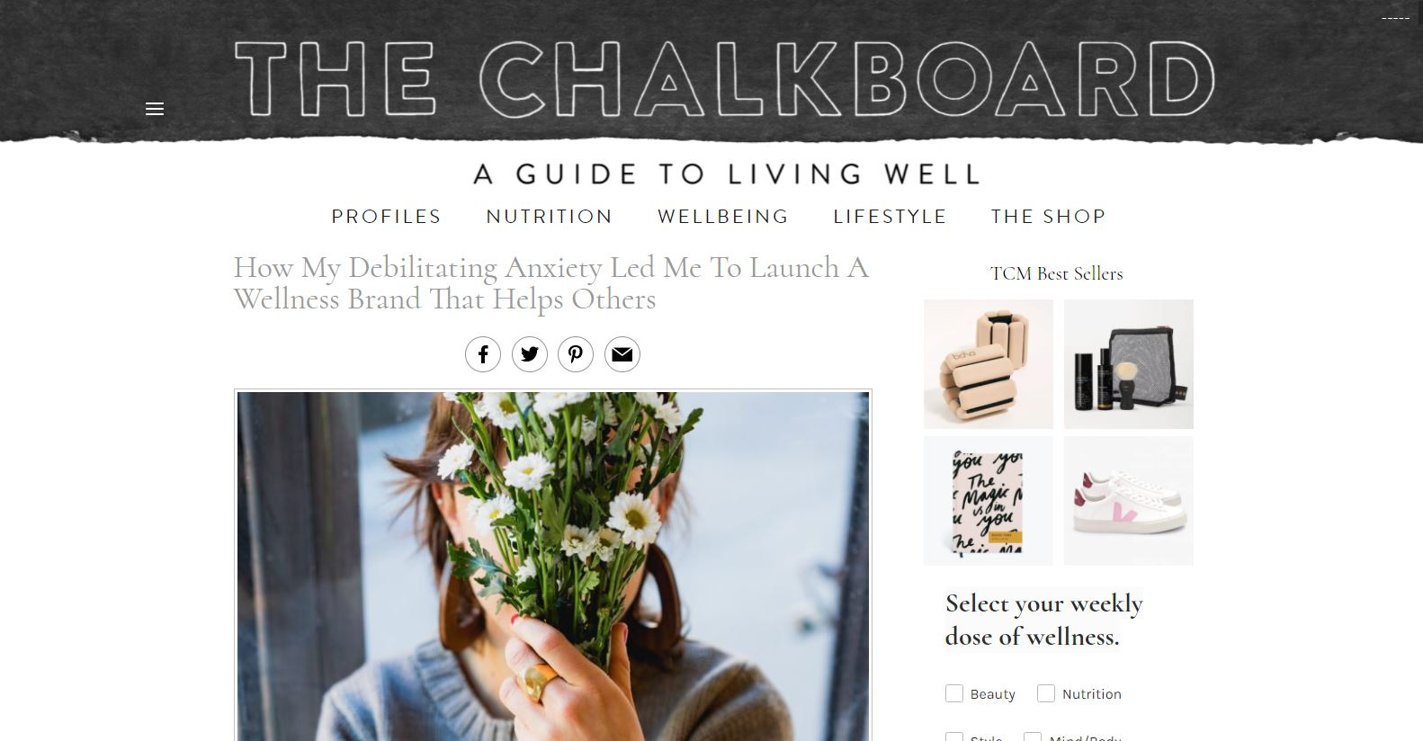 How my debilitating anxiety led me to launch a wellness brand that helps others