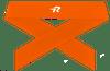 Ringor Softball Tie-Back Headband in Orange.