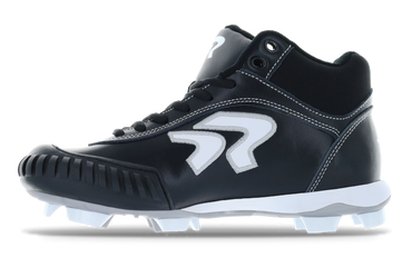 Ringor Dynasty softball mid-high cleat pitching left shoe inside view.