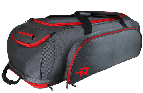 Ringor softball catcher's bag in Charcoal-Red.