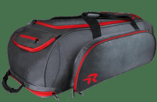 Ringor softball catcher's bag in Charcoal-Red.
