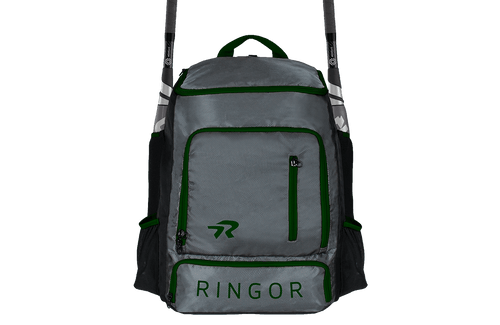 Ringor softball backpack in Charcoal-Green.