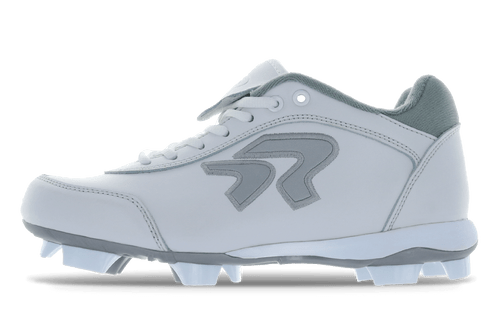 Ringor Dynasty 2.0 Cleat. Leather softball cleat. Left outside view.