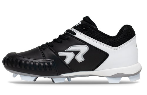 Ringor Flite Cleat Pitching. Aerolite softball cleat. Left outside view.