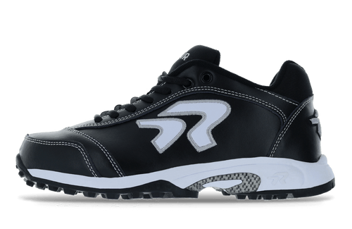 Ringor Dynasty softball turf shoe. Left shoe inside view.