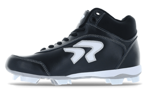Ringor Dynasty softball mid-high cleat left shoe inside view.