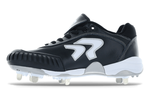 Ringor Dynasty softball spike with pitching toe. Left shoe outside view. Wide