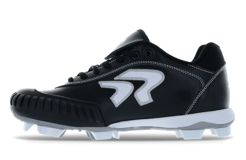 Ringor Dynasty 2.0 Cleat. Leather softball cleat with pitching toe. Wide