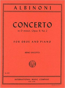 Tomaso Albinoni: Concerto in D minor, op. 9 no. 2 - oboe & piano reduction